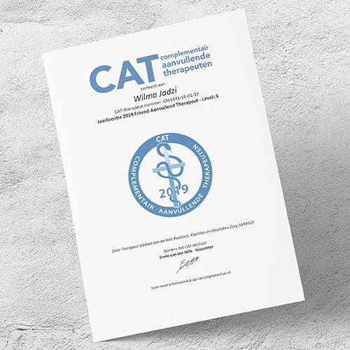 CAT licentie wizorgt Wilma